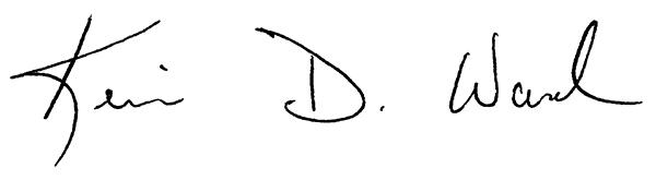 Kevin Ward signature